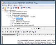 pantalla del programa de pliegos para arquitectura