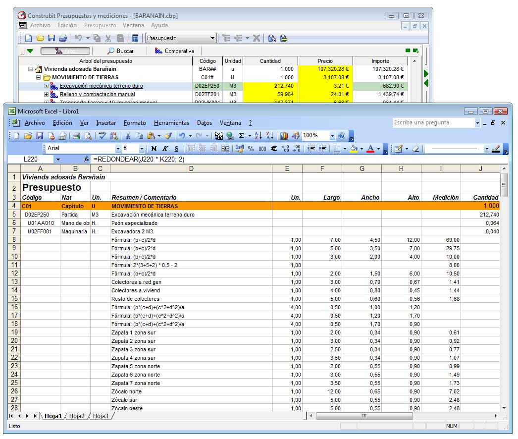 Presupuestos y mediciones construbit for Arquitectura parametrica pdf