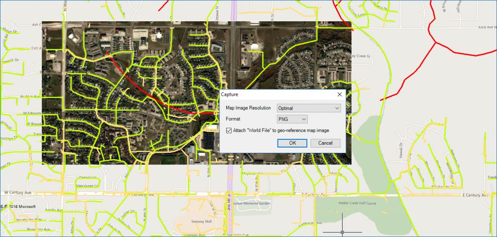 Background Map Snapshot options