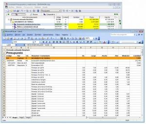 Construbit. Importar y Exportar a Excel